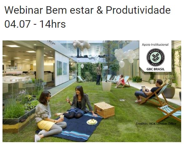 Webinar Bem Estar & Produtividade – WELL BUILDING STANDARD