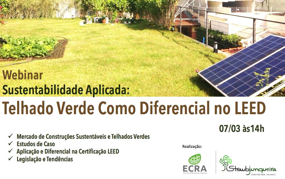 Webinar – Sustentabilidade Aplicada: Telhado Verde Como Diferencial no LEED