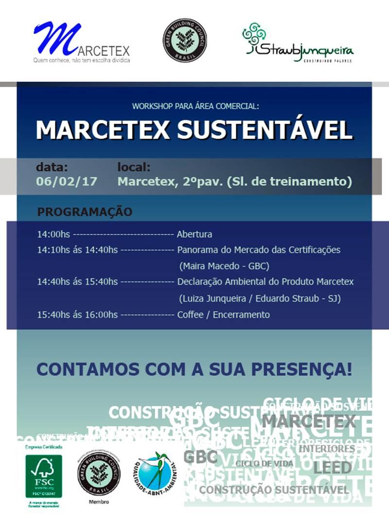 Workshop Marcetex Sustentável – Declaração Sustentável do Produto e Adequação aos Critérios do LEED v.4